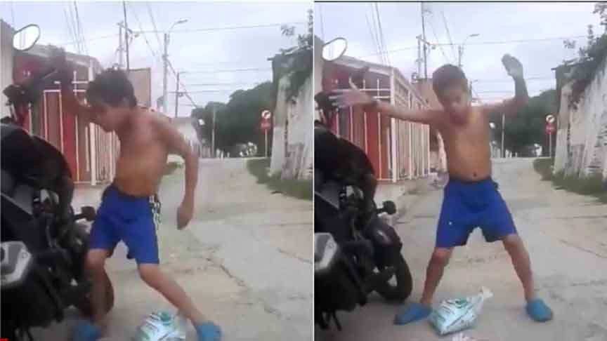 Anand Mahindra shares video of boy dancing on anti-theft bike alarm. Says still on the floor laughing