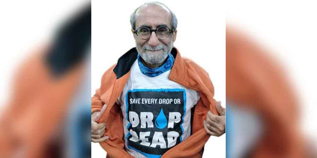 80-year-old Aabid Surti has helped save 10 million litres of water